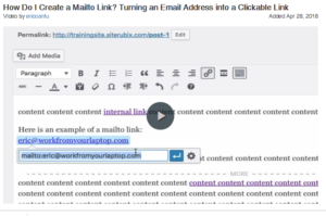Creating a clickable email address