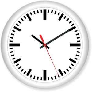 Clock showing hours minutes and seconds