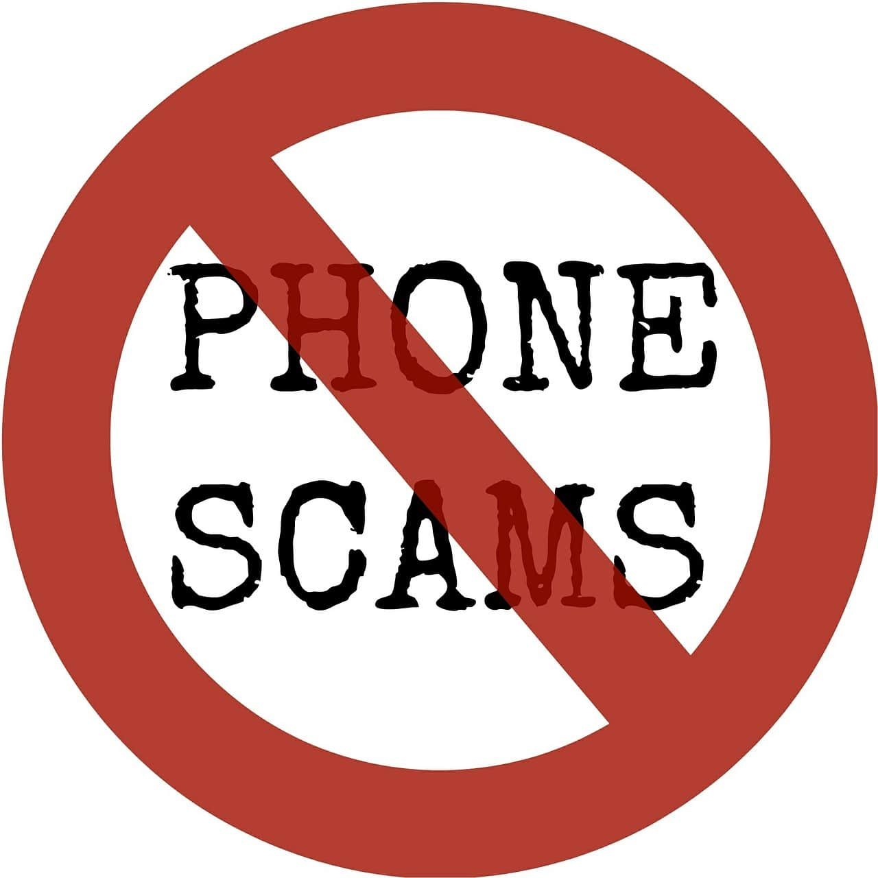 Phone Scams sign